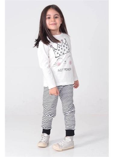 Silversun Kids Kız Çocuk Baskılı Pijama Takım - !Pjm 212969 Ekru